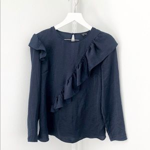 TOPSHOP Long sleeve shirt, Size US 6